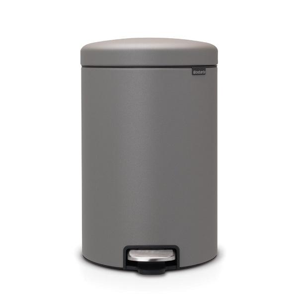 Кош за смет с педал Brabantia NewIcon 20L, Mineral Concrete Grey