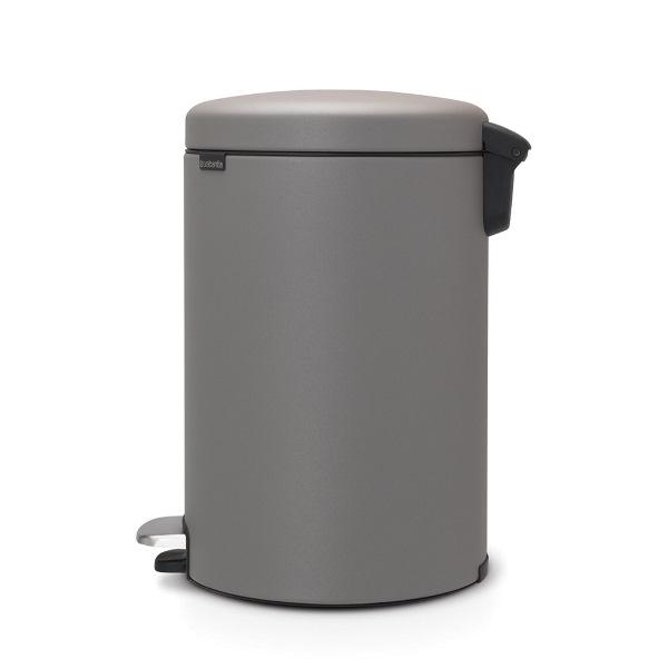 Кош за смет с педал Brabantia NewIcon 20L, Mineral Concrete Grey(2)