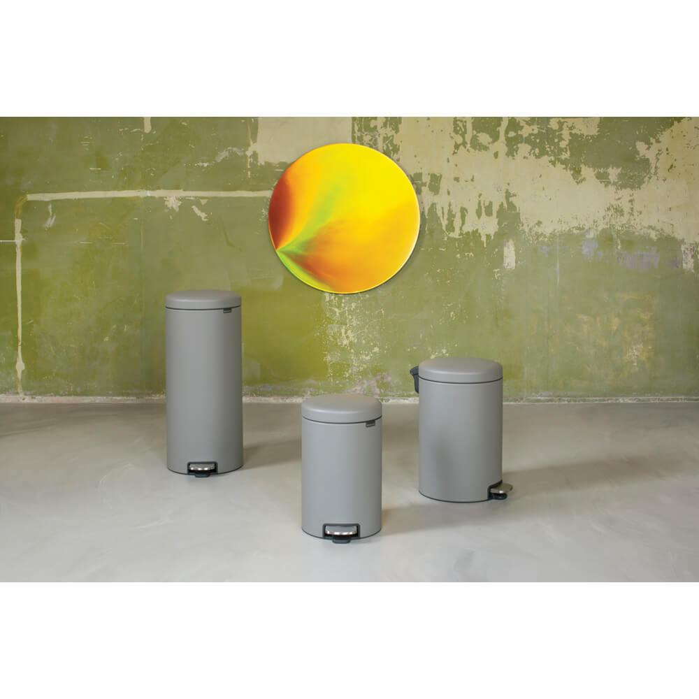 Кош за смет с педал Brabantia NewIcon 20L, Mineral Concrete Grey(4)
