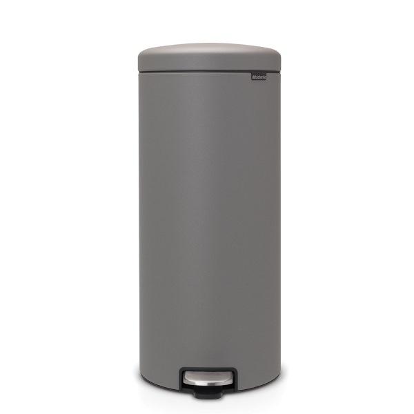 Кош за смет с педал Brabantia NewIcon 30L, Mineral Concrete Grey