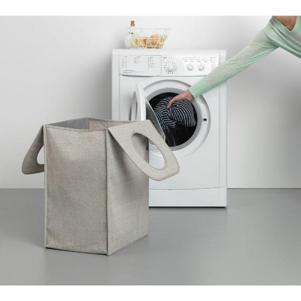Торба пране Brabantia 55L, Grey, правоъгълна(5)