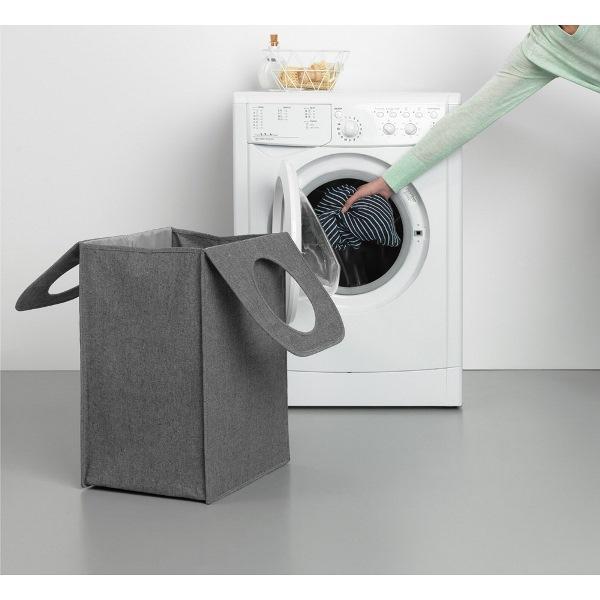 Торба пране Brabantia 55L, Pepper Black, правоъгълна(5)