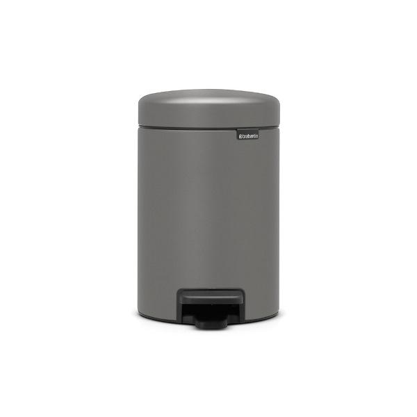Кош за смет с педал Brabantia NewIcon 3L, Mineral Concrete Grey