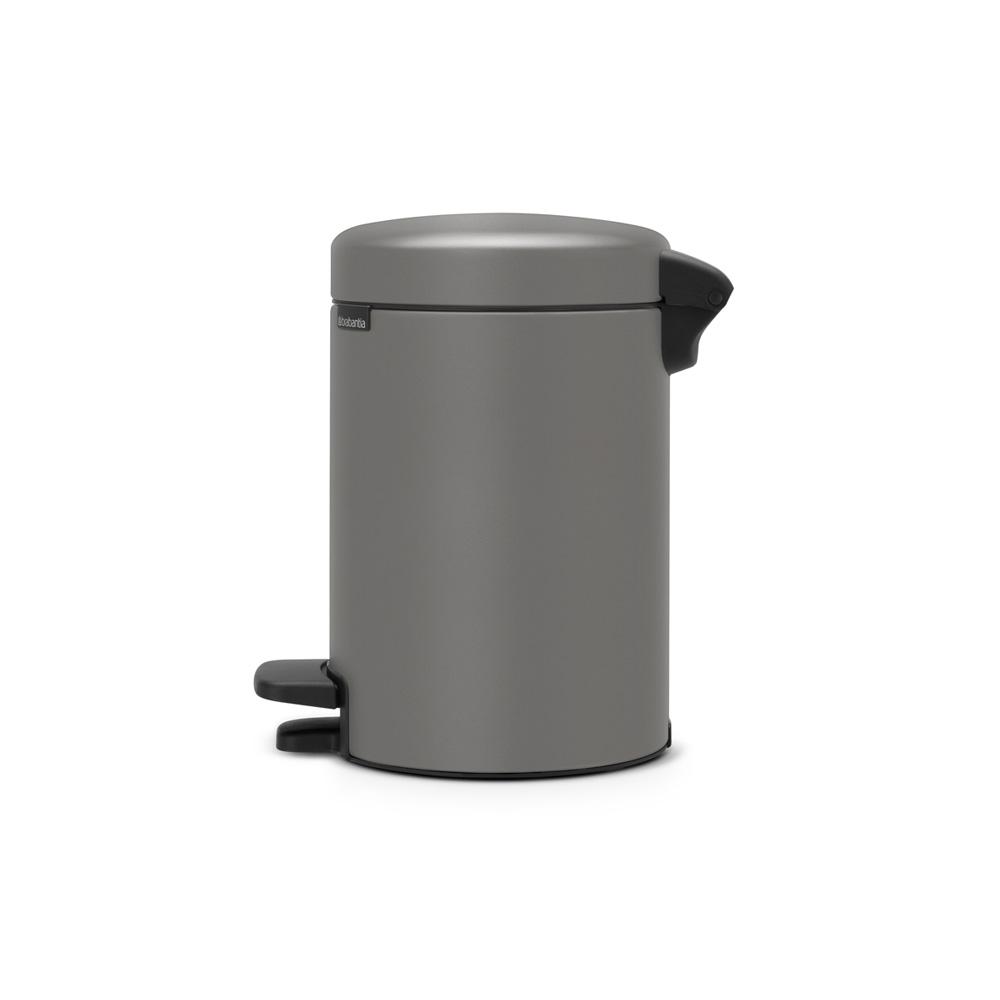 Кош за смет с педал Brabantia NewIcon 3L, Mineral Concrete Grey(1)