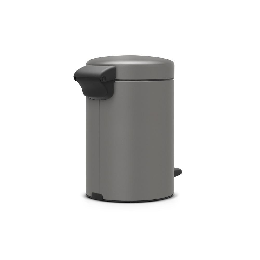 Кош за смет с педал Brabantia NewIcon 3L, Mineral Concrete Grey(2)