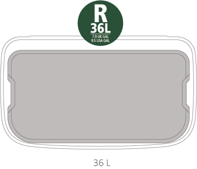 Кош за смет Brabantia Bo Touch 36L, Mineral Concrete Grey(11)