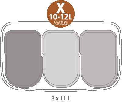 Кош за смет Brabantia Bo Touch 3x11L, Mineral Concrete Grey(11)
