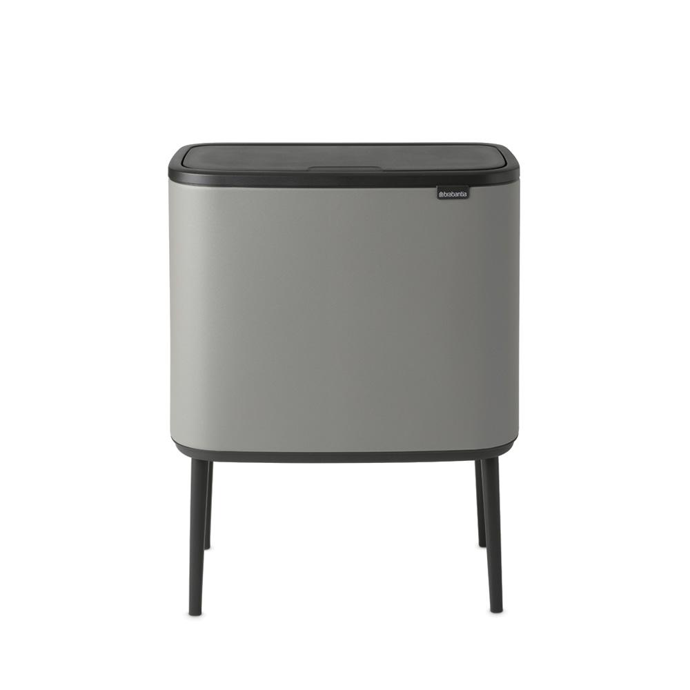 Кош за смет Brabantia Bo Touch 11+23L, Mineral Concrete Grey