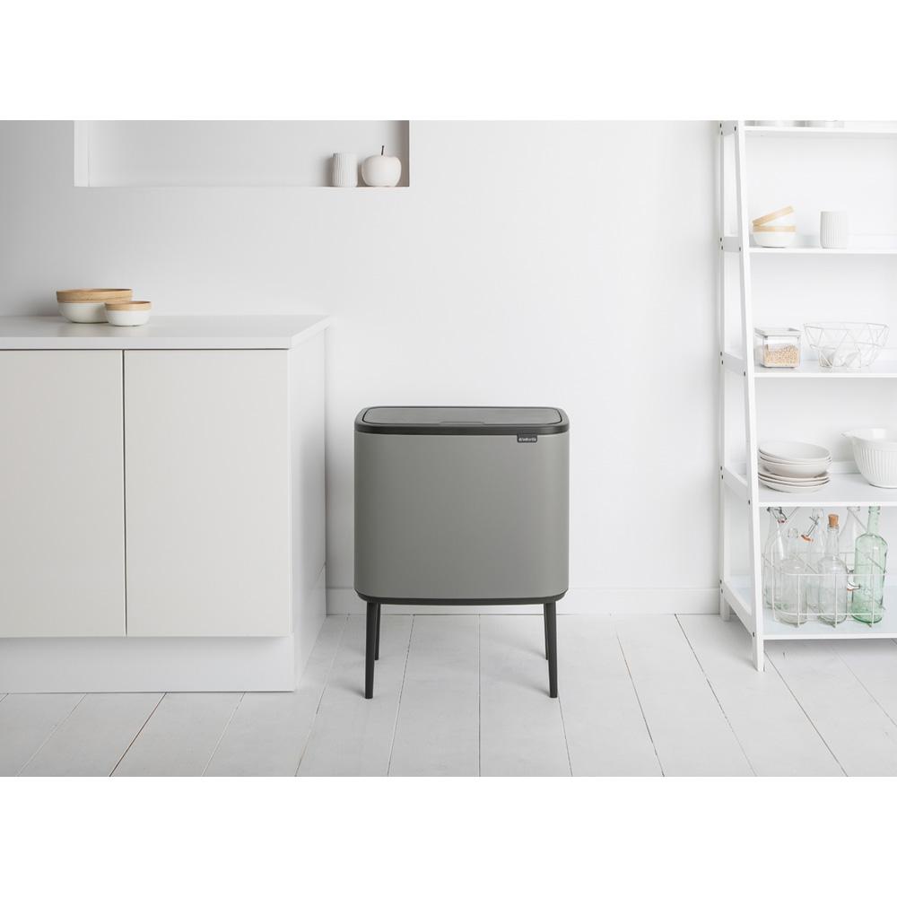Кош за смет Brabantia Bo Touch 11+23L, Mineral Concrete Grey(10)
