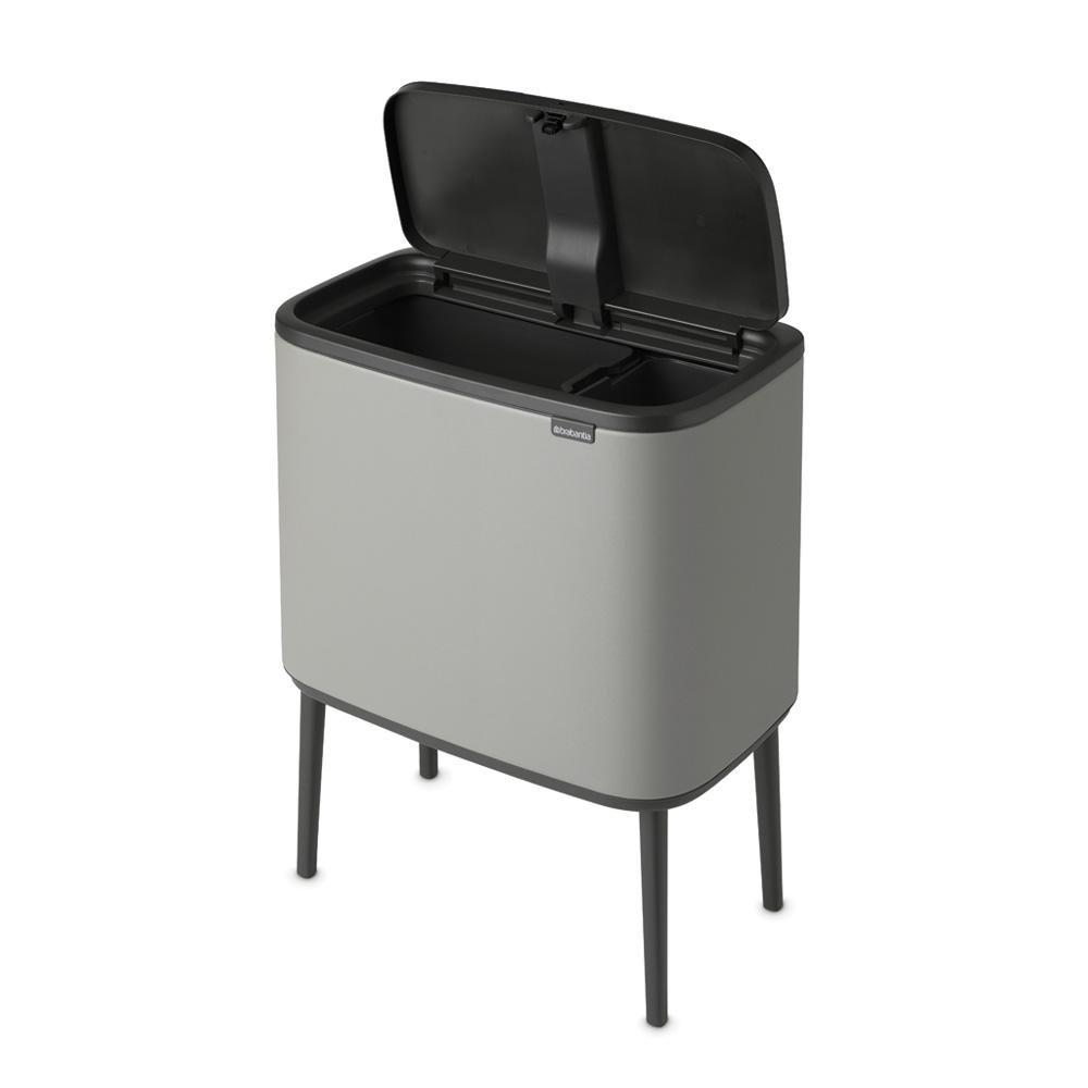 Кош за смет Brabantia Bo Touch 11+23L, Mineral Concrete Grey(5)