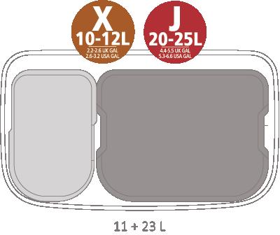 Кош за смет Brabantia Bo Touch 11+23L, Mineral Concrete Grey(11)