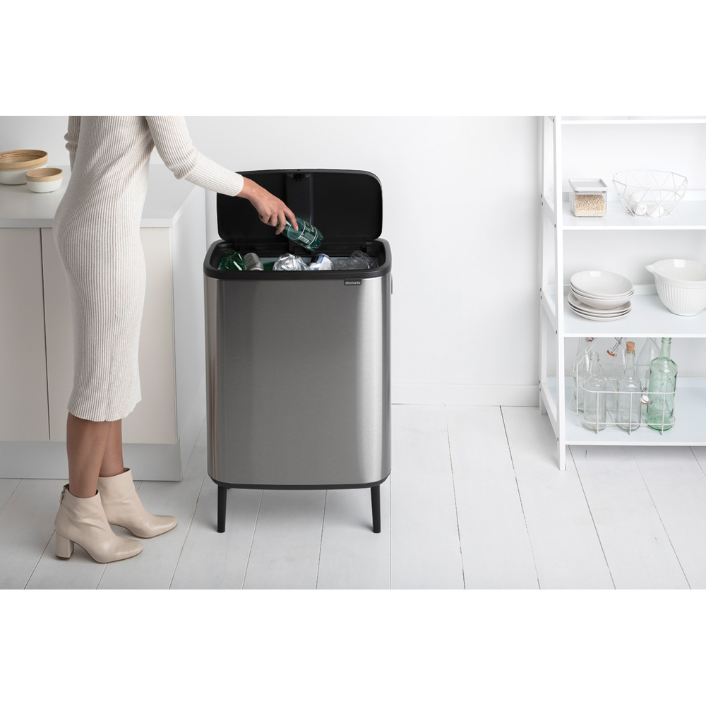 Кош за смет Brabantia Bo Touch Hi 60L, Matt Steel Fingerprint Proof(10)