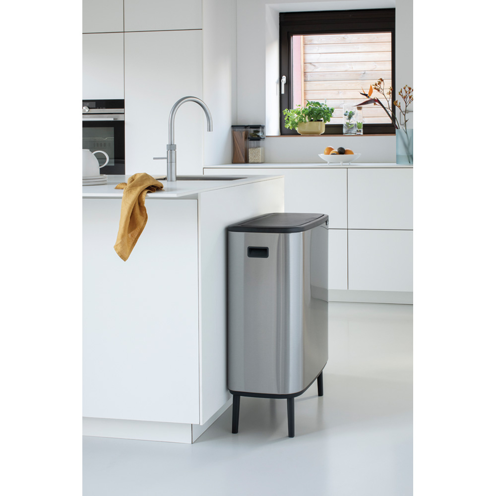 Кош за смет Brabantia Bo Touch Hi 60L, Matt Steel Fingerprint Proof(12)