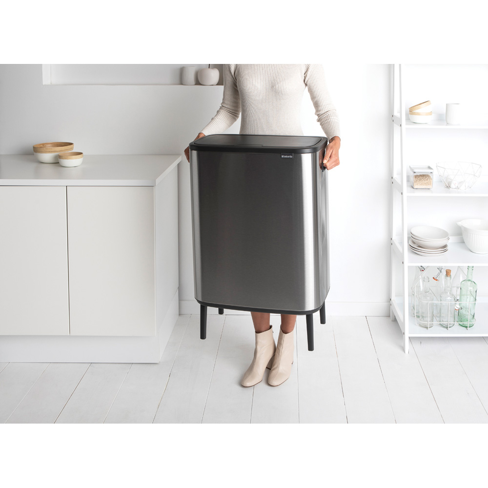Кош за смет Brabantia Bo Touch Hi 60L, Matt Steel Fingerprint Proof(7)