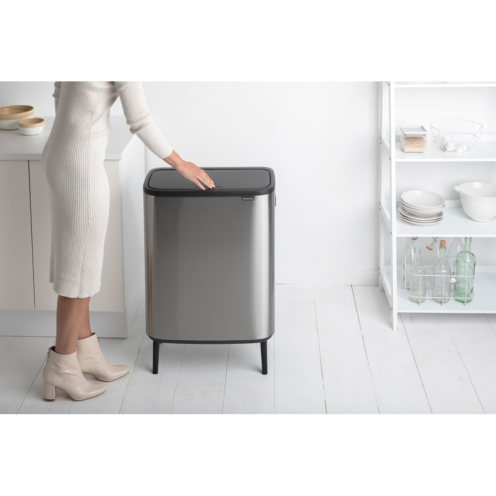 Кош за смет Brabantia Bo Touch Hi 60L, Matt Steel Fingerprint Proof(8)