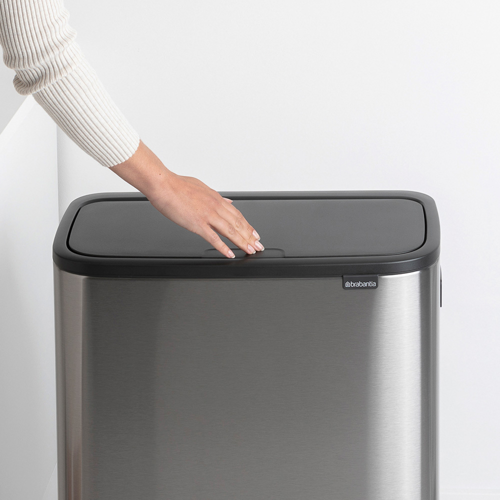 Кош за смет Brabantia Bo Touch Hi 60L, Matt Steel Fingerprint Proof(9)