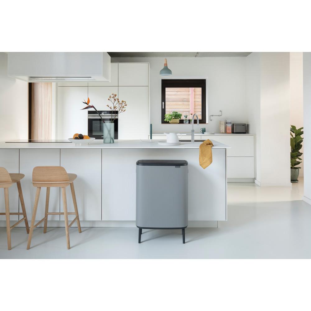 Кош за смет Brabantia Bo Touch Hi 60L, Mineral Concrete Grey(11)