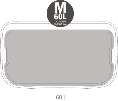 Кош за смет Brabantia Bo Touch Hi 60L, Mineral Concrete Grey(13)