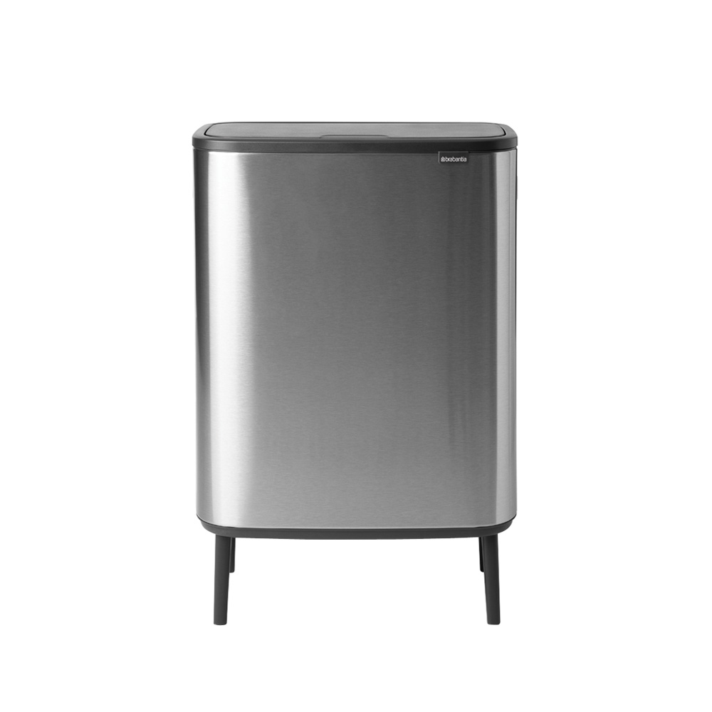 Кош за смет Brabantia Bo Touch Hi 2x30L, Matt Steel Fingerprint Proof