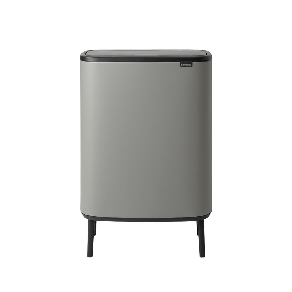 Кош за смет Brabantia Bo Touch Hi 2x30L, Mineral Concrete Grey