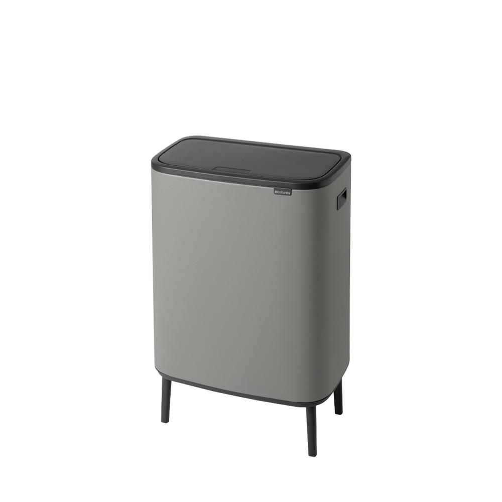 Кош за смет Brabantia Bo Touch Hi 2x30L, Mineral Concrete Grey(1)
