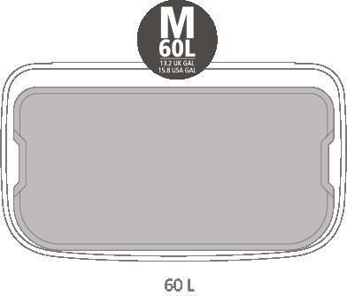 Кош за смет Brabantia Bo Touch Hi 2x30L, Mineral Concrete Grey(13)