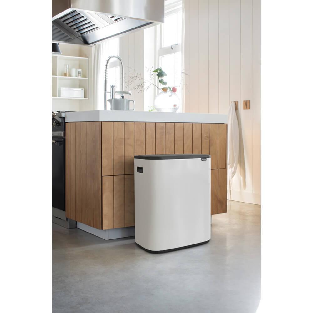 Кош за смет Brabantia Bo Touch 2x30L, White(12)