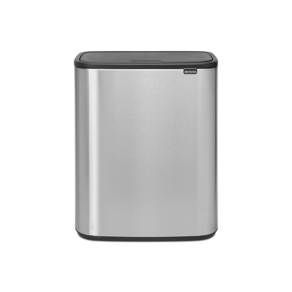 Кош за смет Brabantia Bo Touch 2x30L, Matt Steel Fingerprint Proof