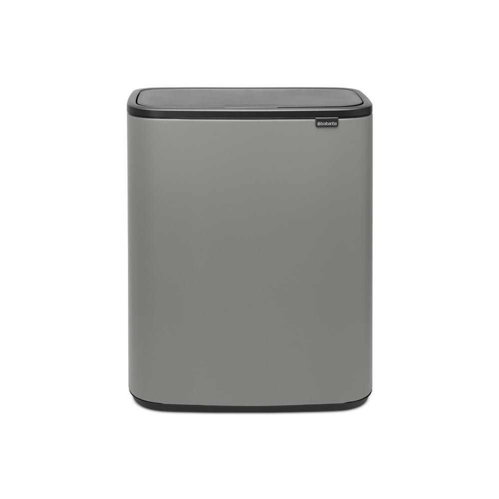 Кош за смет Brabantia Bo Touch 2x30L, Mineral Concrete Grey