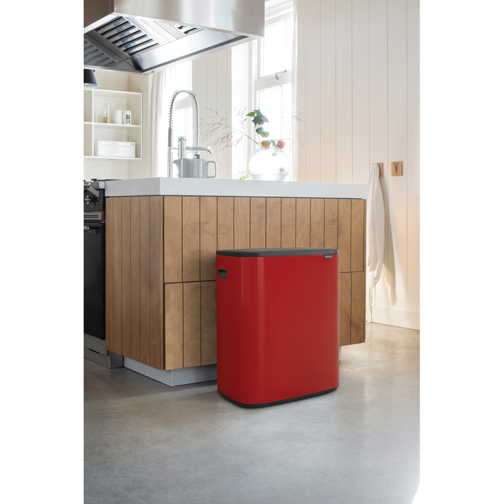 Кош за смет Brabantia Bo Touch 2x30L, Passion Red(12)