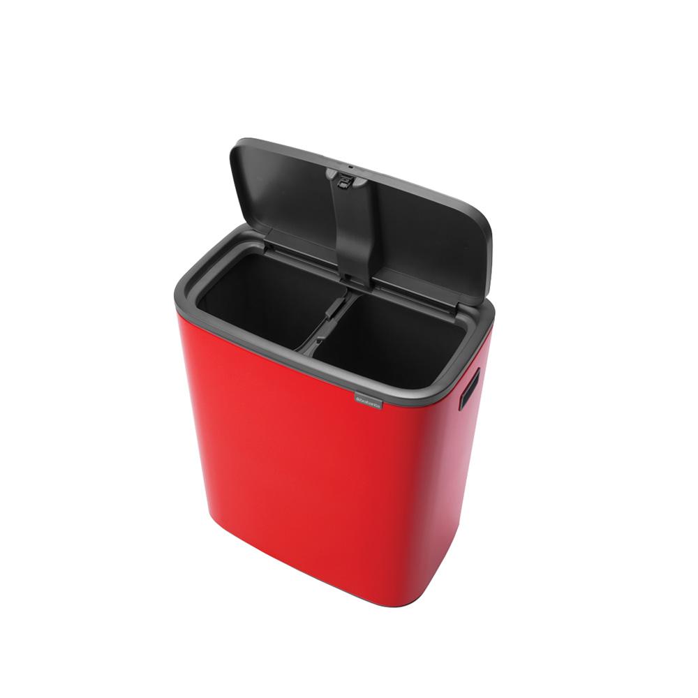 Кош за смет Brabantia Bo Touch 2x30L, Passion Red(2)