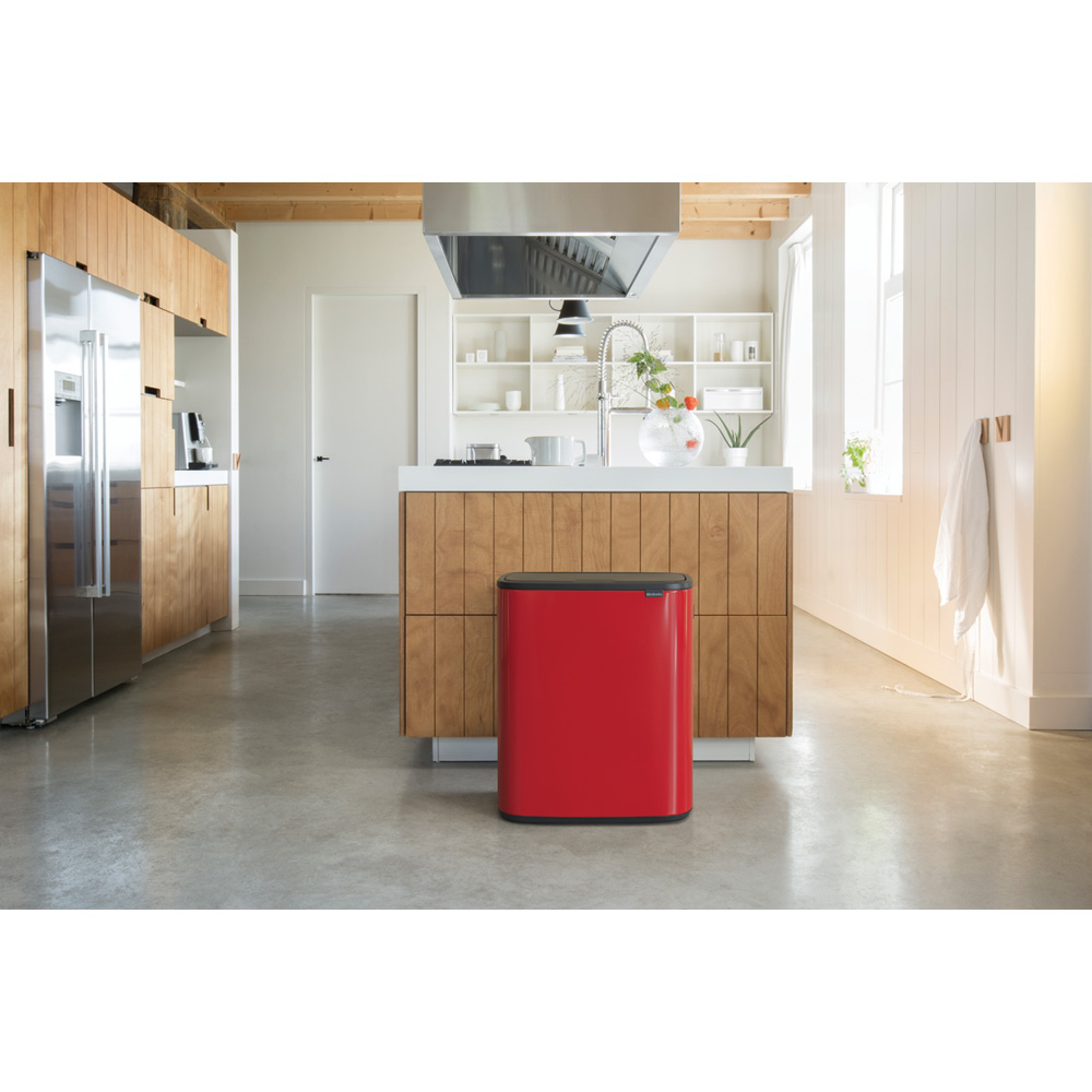 Кош за смет Brabantia Bo Touch 60L, Passion Red(11)