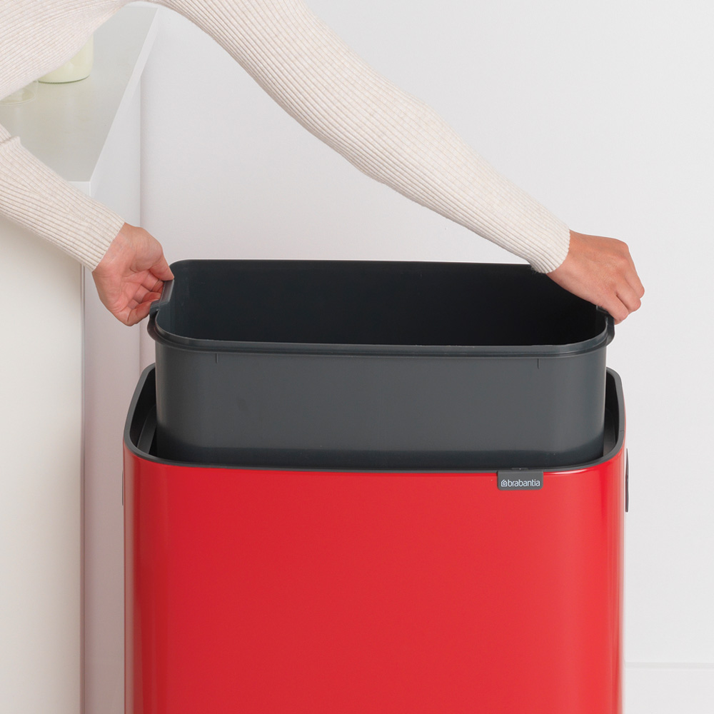Кош за смет Brabantia Bo Touch 60L, Passion Red(4)