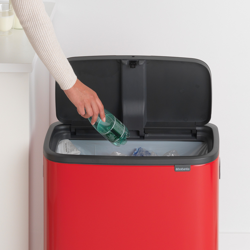 Кош за смет Brabantia Bo Touch 60L, Passion Red(5)