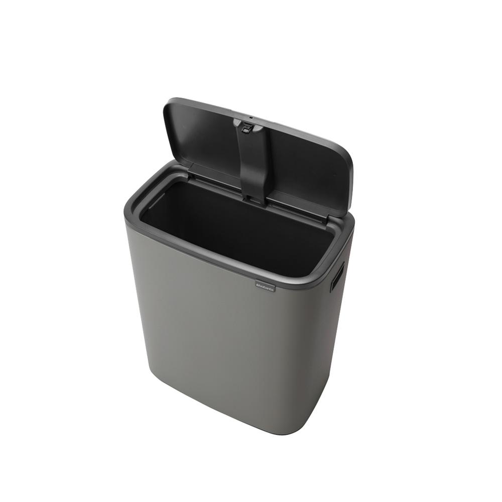 Кош за смет Brabantia Bo Touch 60L, Mineral Concrete Grey(2)
