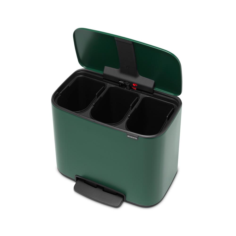 Кош за смет Brabantia Bo Pedal 3x11L, Pine Green(5)