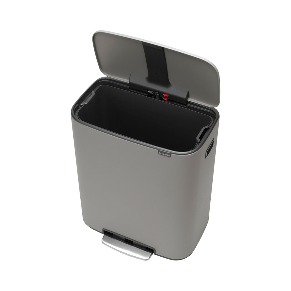 Кош за смет Brabantia Bo Pedal 60L, Mineral Concrete Grey(1)