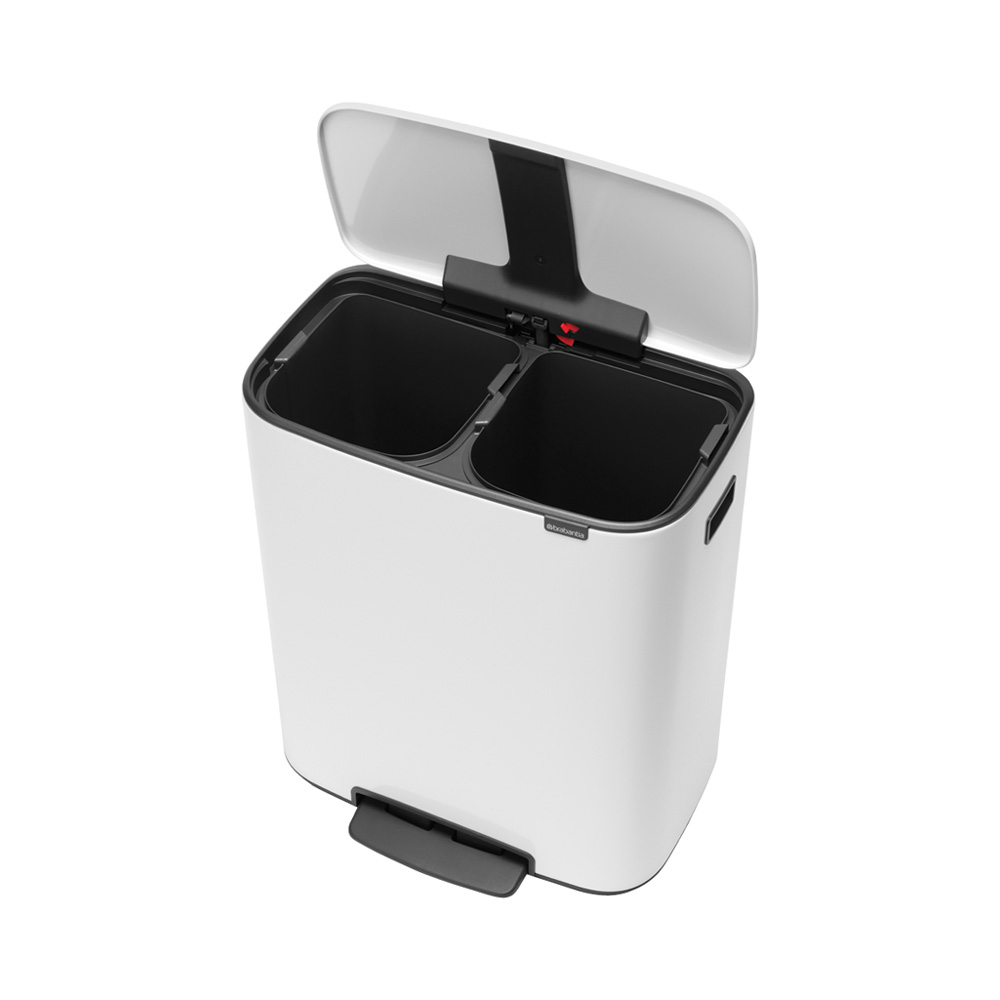 Кош за смет Brabantia Bo Pedal 2x30L, White(1)