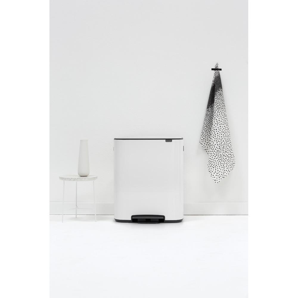 Кош за смет Brabantia Bo Pedal 2x30L, White(10)