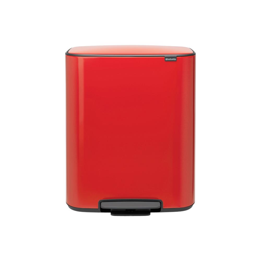 Кош за смет Brabantia Bo Pedal 2x30L, Passion Red
