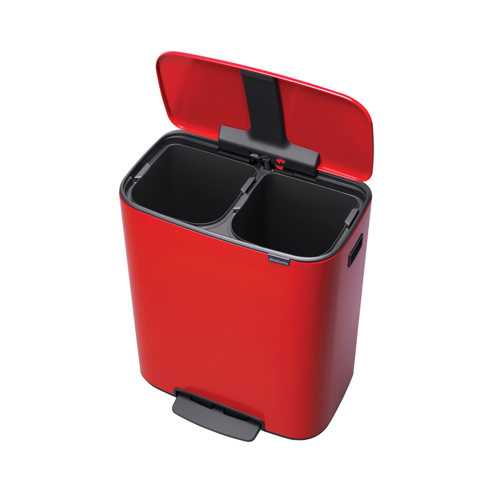 Кош за смет Brabantia Bo Pedal 2x30L, Passion Red(1)