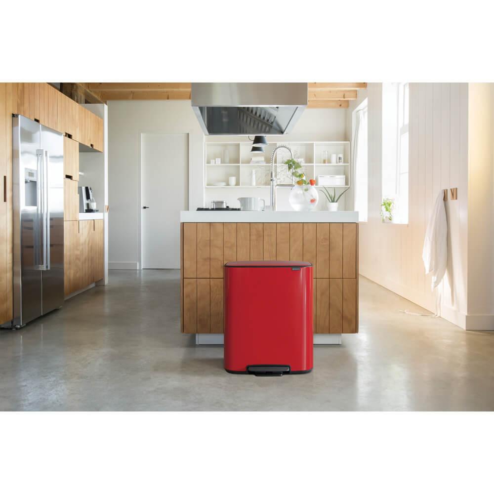 Кош за смет Brabantia Bo Pedal 2x30L, Passion Red(8)