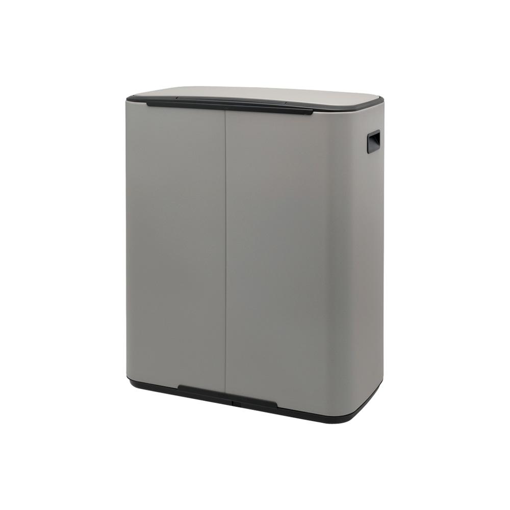 Кош за смет Brabantia Bo Pedal 2x30L, Mineral Concrete Grey(2)