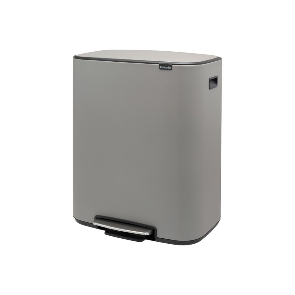 Кош за смет Brabantia Bo Pedal 2x30L, Mineral Concrete Grey(3)