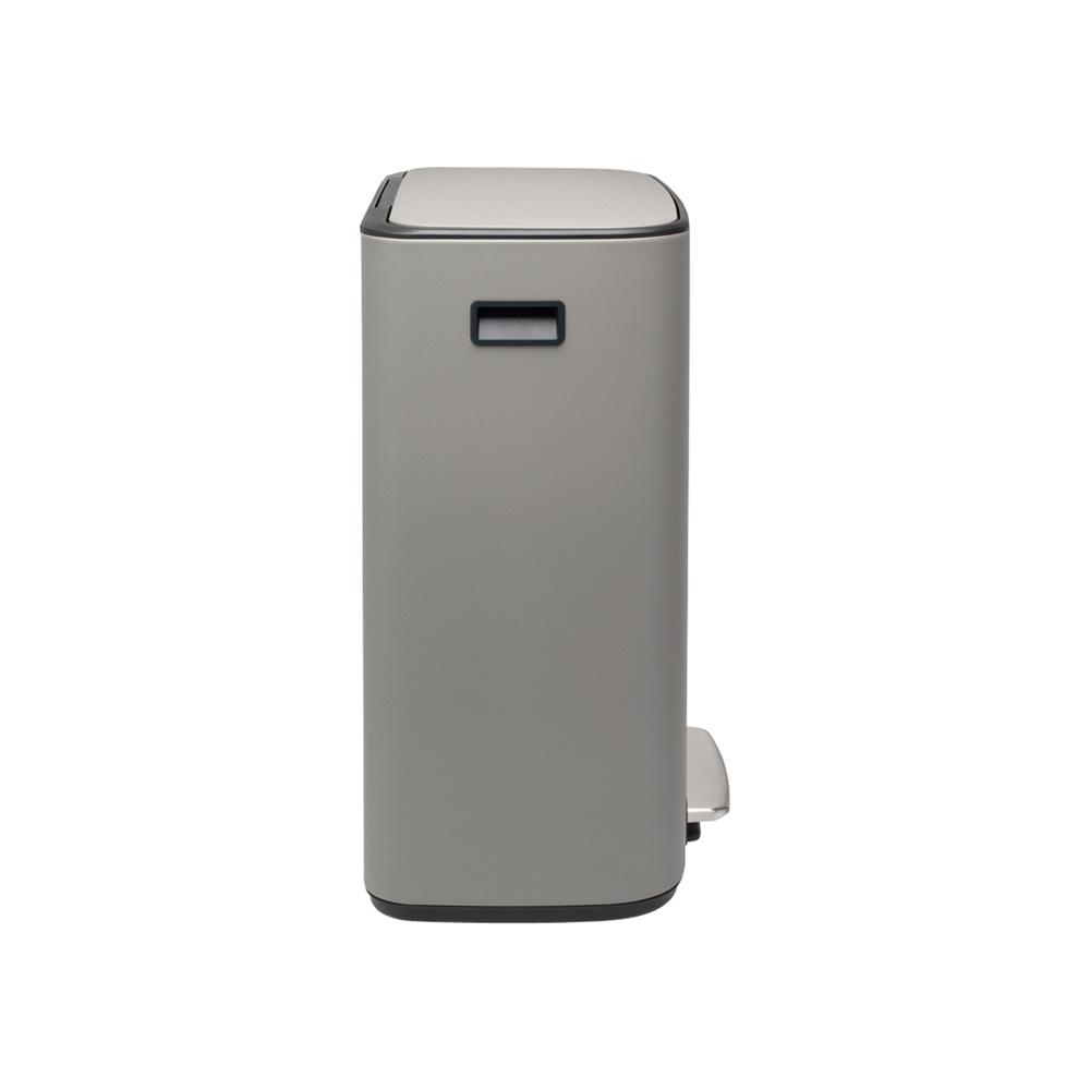 Кош за смет Brabantia Bo Pedal 2x30L, Mineral Concrete Grey(4)