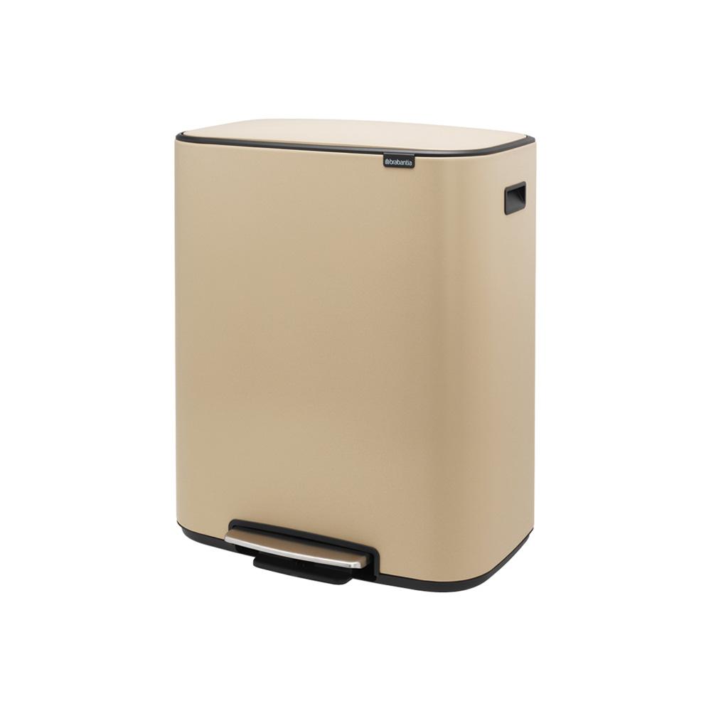 Кош за смет Brabantia Bo Pedal 2x30L, Mineral Golden Beach(3)