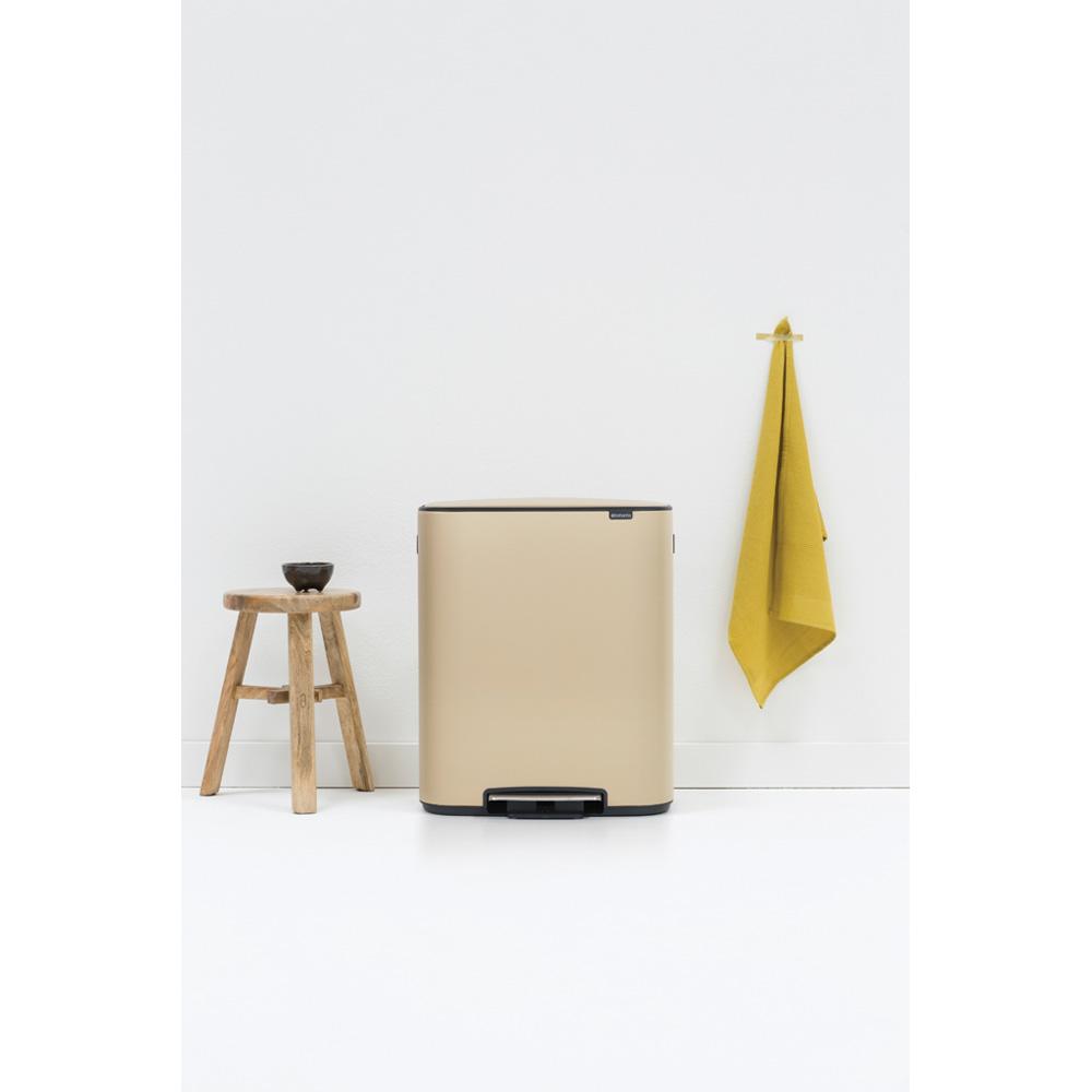 Кош за смет Brabantia Bo Pedal 2x30L, Mineral Golden Beach(9)