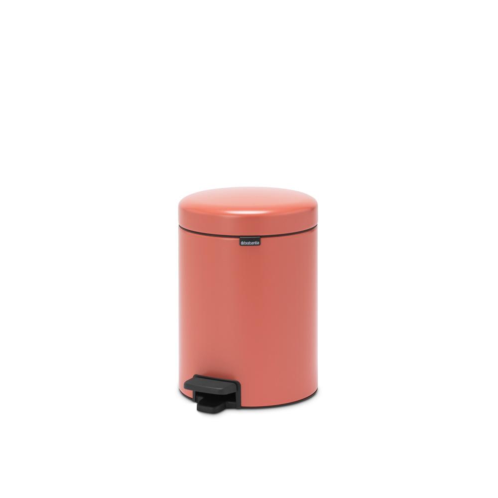 Кош за смет с педал Brabantia NewIcon 5L, Terracotta Pink(6)