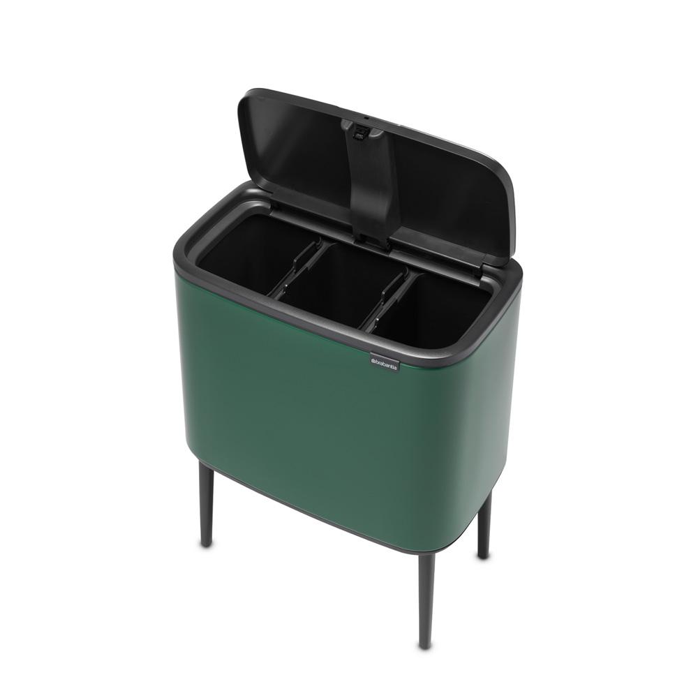 Кош за смет Brabantia Bo Touch 3x11L, Pine Green(4)