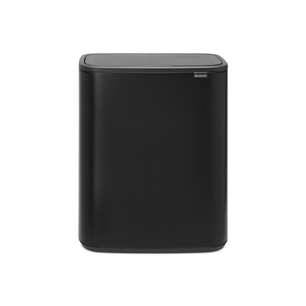 Кош за смет Brabantia Bo Touch 2x30L, Matt Black